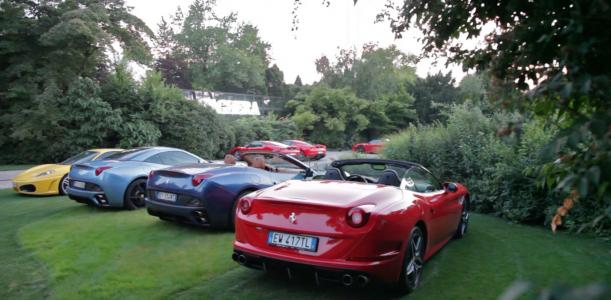 Presentazione Ferrari 488 GTB nei Giardini Paghera